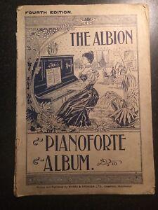 The Albion Pianoforte Album Fourth Edition Antique 1900's Marks & Spencer Ltd