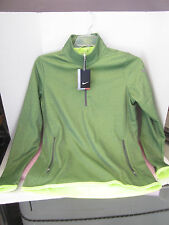 NIKE GOLF WOMEN'S THERMAL 1/2 ZIP PULLOVER 685282 GREEN LARGE
