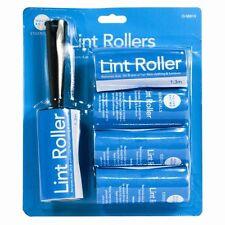 5x Ashley  Lint Dust Fluff Roller Clothes Pet Hair Remover + Refill UK Houseware