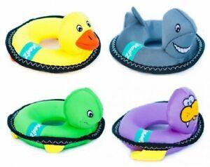Zippypaws Floaterz Pool Dog Toys: Walrus, Duck, Shark
