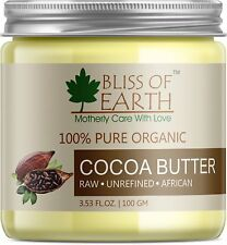 Pure Organic Cocoa Butter Raw Unrefined African 200 grams