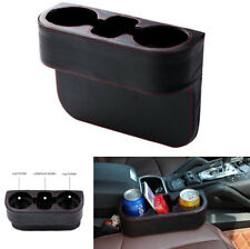 Auto Car Seat Gap 2 Cup Bottle Holder + Phone Cigarette Mount Storage Organizer