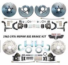 "Mopar 1962-72 B&E Body Front & Rear 12"" Rotor Disc Brake Conversion Kit Slotted"