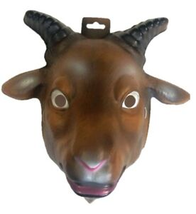 Goat Plastic Half Mask Animal Adult Kids Manger Halloween Costume Accessory Prop