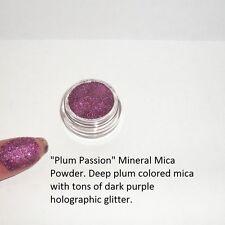 """Plum Passion"" Mineral Mica Powder Eye Shadow~Deep Plum w/ purple sparks ~ Vegan"