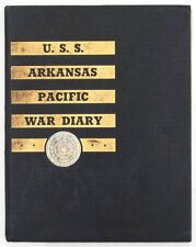 USS ARKANSAS BB-33  1944-1945 WW II PACIFIC WAR DIARY CRUISE BOOK