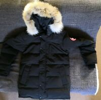 CANADA GOOSE MEN'S CARSON PARKA - BLACK, LARGE.