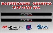 ADESIVI BATTITACCO  PER FIAT  500  , TUNING STICKERS PROFESSIONALI