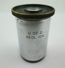 Ernst Leitz Wetzlar 8x Microscope Eyepiece Marked U of C Geol 104 from Germany
