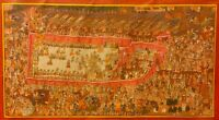 Rare City Palace Udaipur Hand Painting Finest Detailed King Tiny Natural work