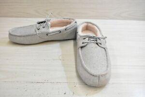 Steve Madden Psailor Moccasin Slippers, Men's Size 12, Grey MSRP $40