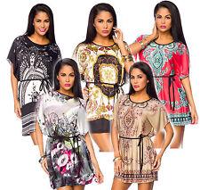 Markenlose Mini-Damenkleider mit Rundhals-Ausschnitt für die Freizeit