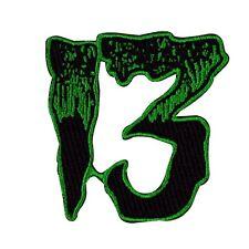 """Number """"13"""" Green Patch Kreepsville Unlucky # Thirteen Craft Iron-On Applique"""
