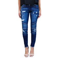 Damen Ripped Stretch Skinny Jeans Jeggings Denim Hose Leggings Röhrenjeans 34-42