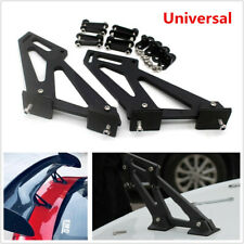 Universal Car Rear Wing Trunk Spoiler Legs Bracket Mount Stand Kit Side Plates