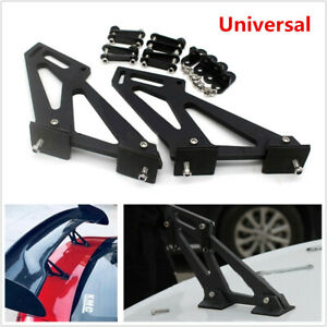 Universal Car Rear Wing Trunk Spoiler Legs Bracket Mount Stand Kit Side Plates