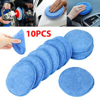 "10pcs 5"" Microfiber Foam Sponge Applicator Pads Car Buffing Polish Wax Cleaner"