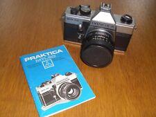 VINTAGE PRAKTICA MTL 50 35MM FILM CAMERA, PENTACON AUTO 1.8/50 LENS. Booklet.