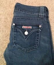 Hudson Triangle Flap Pocket Flare Stretch Jeans Size 26 28x30 Women