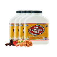 Emergency survival tabs 25 years shelf life 4 bottle x 180 tablets variety