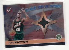 AUCTION GARY PAYTON SEATTLE SUPERSONICS 2001-2002 SLICE OF A STAR SHIRT CARD