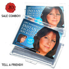OFFER- 2 Instant Face and Neck Lifts- 2 KITS (DARK HAIR) Anti Wrinkle Facelift