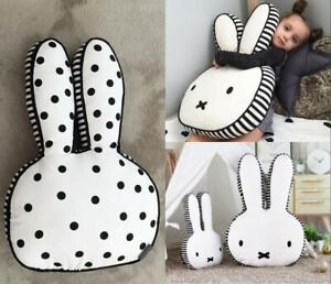 Miffy Rabbit Pillow Cushion Plush Toy Anime Bunny Pillow Kids Bedroom Decor X1