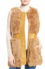 Olivia Palermo + Chelsea28 Genuine Shearling Vest Size:XS $498 NWT
