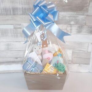 Baby Gift Basket. Baby Hamper. Baby Shower Gift Basket. Nappy Cake. Unisex, Boy