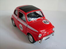Fiat 500 Race Version rot, Welly Auto Modell ca. 1:35-1:38, Neu, OVP