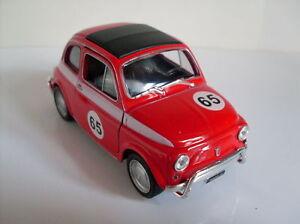 Fiat 500 Course Version Rouge, Welly Auto Modèle Env. 1:3 5-1 :3 8 , Neuf, Ovp