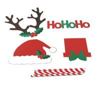 12x Merry Christmas Photo Booth Props Kit Santa Claus DIY Decorarion Supply 6L