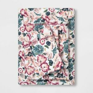 3pc OPALHOUSE  Printed Cotton Percale Sheet Set | TWIN XL Purple Floral | 🆕