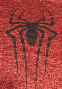 """""""SPYDER"""" Man 2 Men's Large Red Heathered Polyester  Base Layer Athletic Shirt"""
