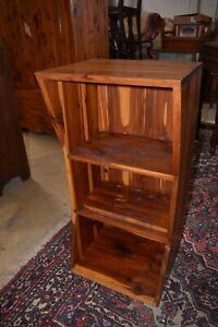 Vintage Mid Century Red Cedar BookShelf, End Side Table or Nightstand