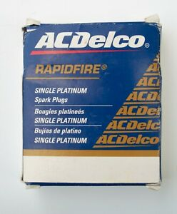 Set of 4 AC Delco Spark Plugs #17 Rapidfire Platinum 88879892
