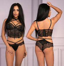 LIVCO CORSETTI Morandina Luxury Underwired Boned Basque and Matching Brief Set