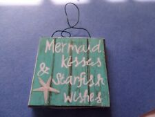 Mermaid Kisses-Starfish wishes-Beach Sign Dollhouse Miniature 1:12    sign