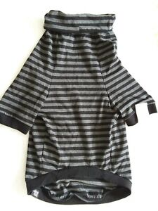 Tooth & Honey Big Dog/Stripe Shirt/Pullover/Full Belly Coverage XL NWT Blk & Gry