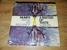 MUMPS VINYL LP..'A MATTER OF TASTE'