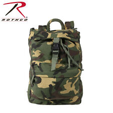 Woodland Camo Canvas Water Resistant Day Pack Backpack 2370 Rothco