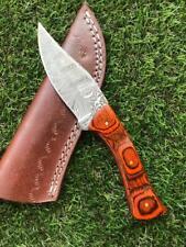 CUSTOM HANDMADE TWIST DAMASCUS STEEL SKINNER HUNTING KNIFE X 51