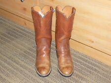 LUCCHESE 1883 Brown Distressed Leather Western Cowboy Boots 6304 Men's Size 7D