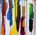 Original Abstract Art Acrylic Painting Canvas Artwork Palette Knife Warren Green