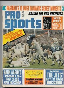 November 1969 Pro Sports Magazine----Johnny Unitas