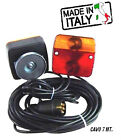 Light Magnetic Trailer Light set 7 Meters Cable Board Tail Lights Lamp Plug ..