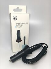 Panda Intellisense Touch LED Light Micro USB Vehicle Car Charger with Extra USB