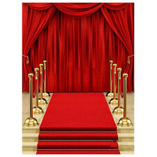 5x7ft Vinyl Red Carpet Curtain Backdrop Studio Photography Photo Background ED
