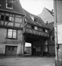 COLMAR c. 1950 - Vieille Ville Porche Maison Haut-Rhin - Négatif 6 x 6 - GE 107