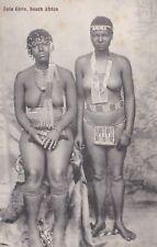 1910 AFRICA 2 x NUDE ZULU GIRLS POSTCARD ETHNIC NUDE SOUTH AFRICA